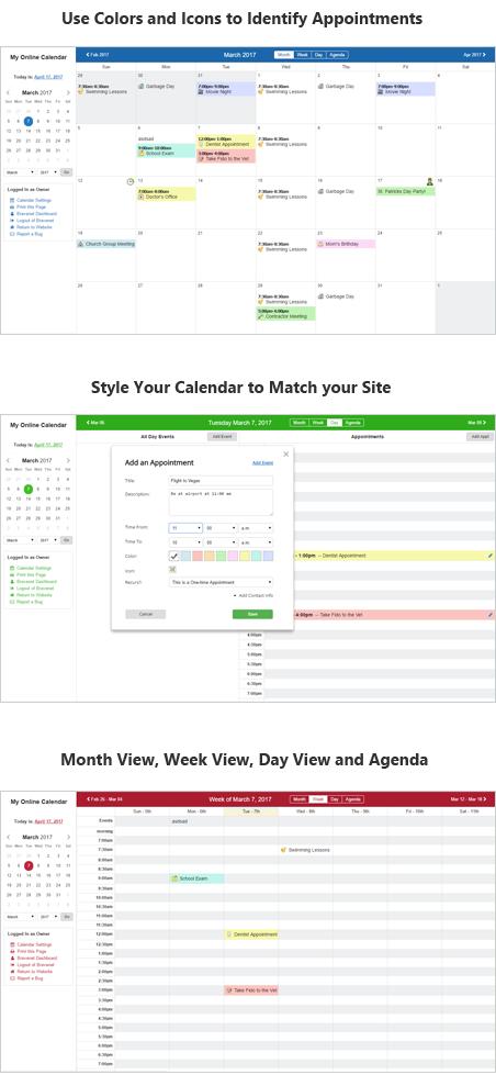 online calendars