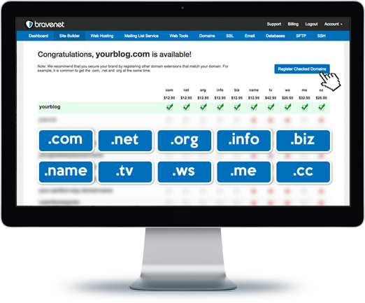 Use your Custom Domain with your Bravenet Blog Service