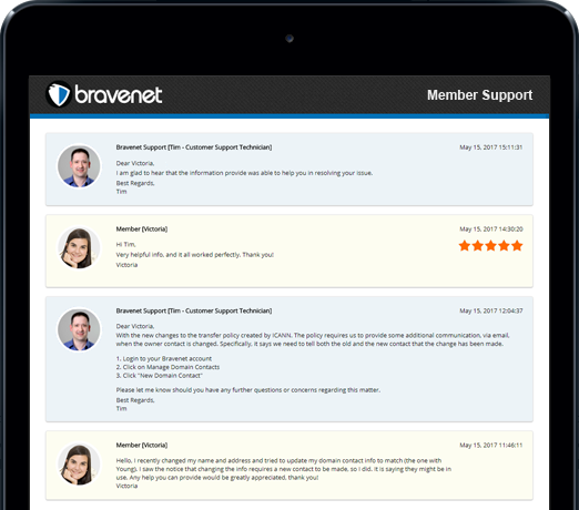 Bravenet has Fantastic Support