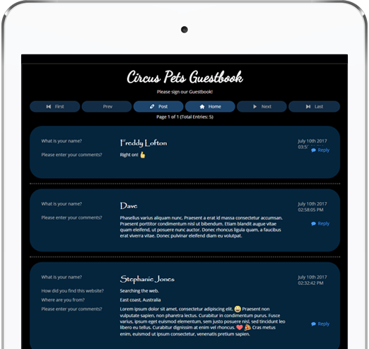 Interact with your Website Visitors by using a Bravenet Guestbook