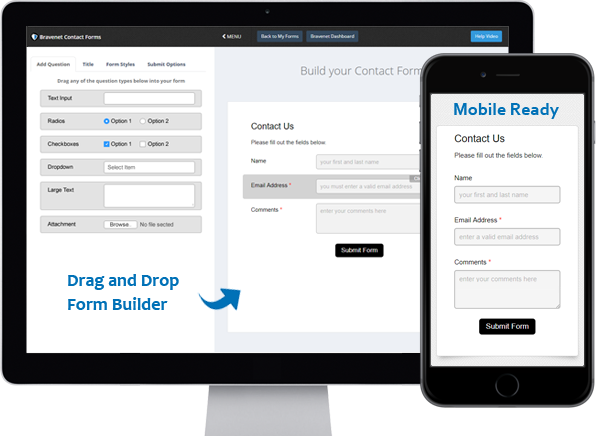 Drag and Drop Contact Form Builder