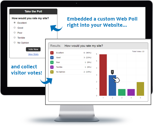 Bravenet features Embeddable Web Polls