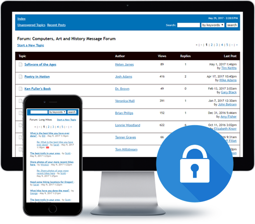 Password Protect the Bravenet Message Forum Service