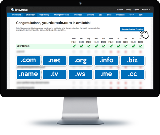 Bravenet offers Custom Domains