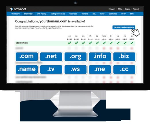 Bravenet offers Custom Domains