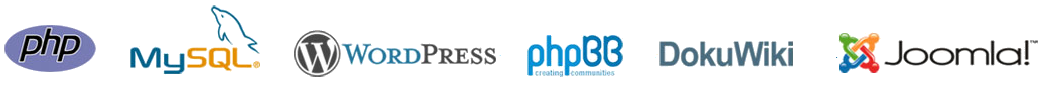 Bravenet Web Hosting Features PHP Support with MySQL Databases<br>and One Click Software Installs